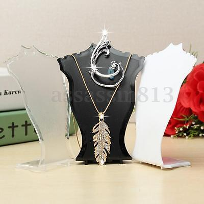 Pendant Necklace Chain Earring Jewelry Bust Mini Display Holder Stand Showcase