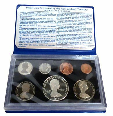 New Zealand 1978 Proof Set Of 7 Coins Including Silver One Dollar Coin