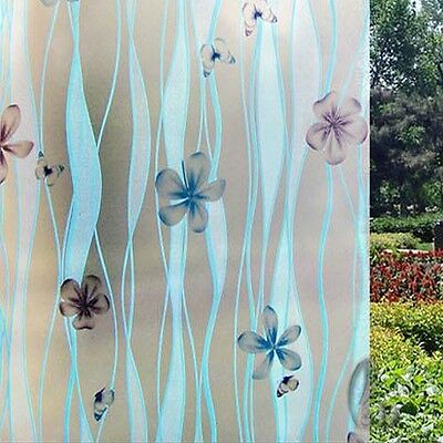 92cmx3m Floral Privacy Frosted Frosting Removable Glass Window Film c1093-1