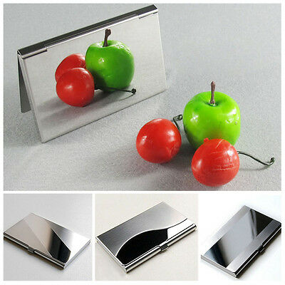 Pocket Stainless Steel Metal Business Card Holder Case ID Credit Wallet hot