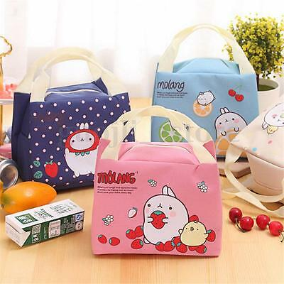 Cute Insulated Cooler Thermal Picnic Lunch Bag Portable Food Storage Pouch Tote