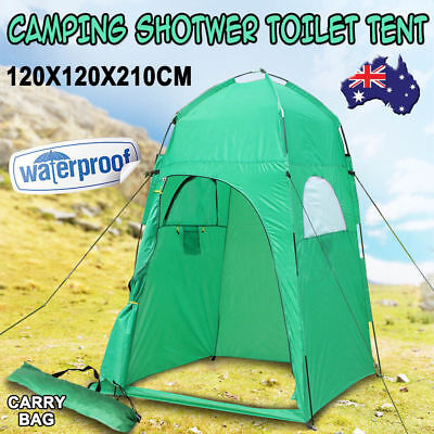 Camping Shower Toilet Tent Outdoor Portable Change Room Shelter Ensuite Zipper