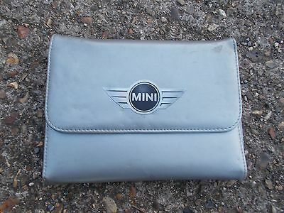Bmw Mini Silver Plastic Folding Wallet With Mini Emblem For Vehicle Documents