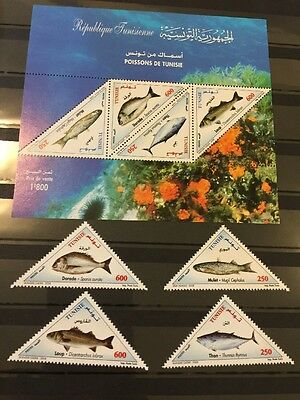 Tunisia 2008 Fish MNH SS And Stamps