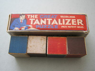 Antique Dice Game 1920 Pat 18945 The Tantalizer Puzzle Complete With Box & Rules