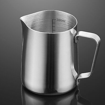 350ml Stainless Steel Coffe Frothing Milk Latte Jug Coffee Foam Cup Pitcher H6TG