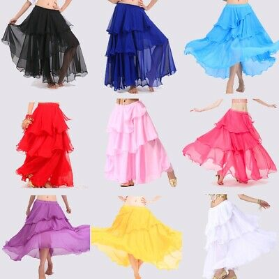 Belly Dance Tango Samba Carnival Gypsy Skirt Outfit Set Bollywood Fancy Costumes