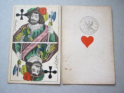 Playing Cards Antique 1840 Ludwig Von Der Osten Germany Hand Cut Coloured Square