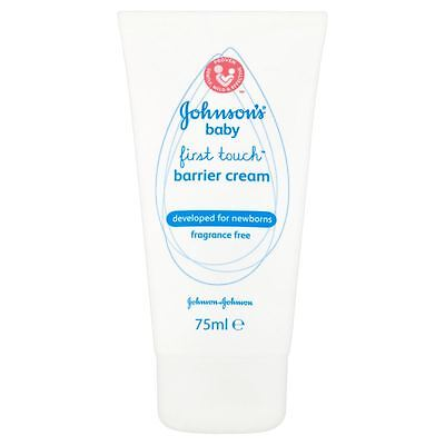 Johnsons Baby Sensitive First Touch Barrier Cream 75ml - 2 Pack