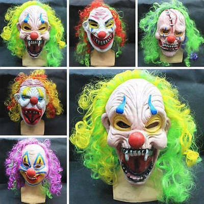 Adult Horror Scary Clown Mask Latex Halloween Party Fancy Dress UP Costume Mask