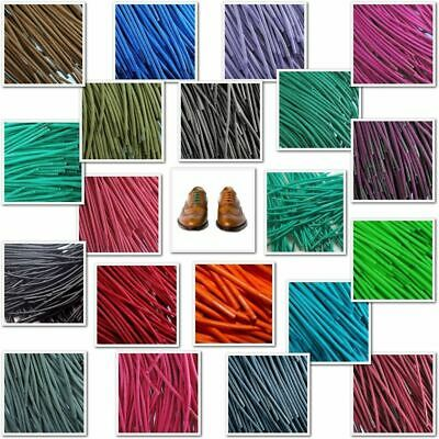 TZ Branded Round Wax Cotton Thin Shoe Laces 2.5mm 4 lengths Waxed Dress Shoes