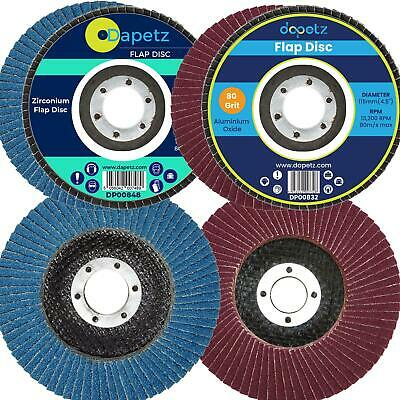 """Quality Flap Discs 115mm Sanding 40 60 80 120 Grit Grinding Wheels 4.5"""" Mixed"""