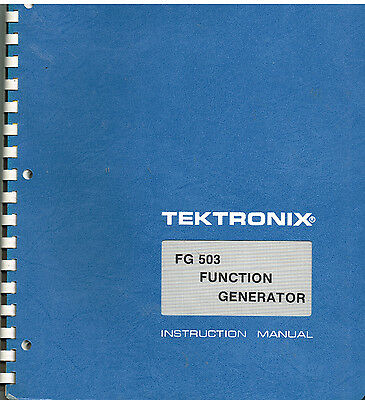 Tektronix FG503 Function Generator Instruction Manual