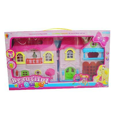 Kids Creative Toys Pretend Playing Building Dollhouse Set Pretty Girls Gift