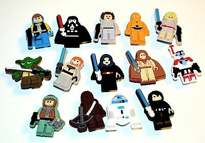 Lego Star Wars Inspired Cartoon Characters 14pc Shoe Charm Decorations