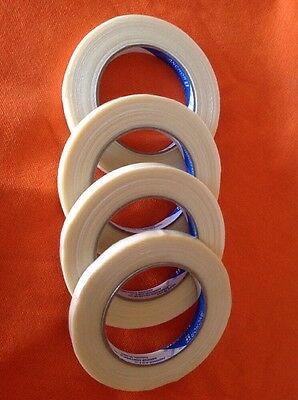"""Anchor Strapping Tape, Filament type, 1/2"""" x 60 yards, 4 rolls Made In USA"""