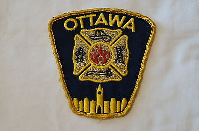 Canadian Ontairo Ottawa Fire Dept Services D'Incendie Patch Obsolete