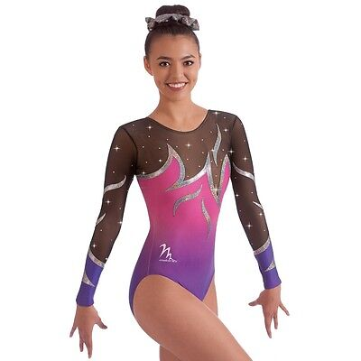"Milano Pro Sport Gymnastic leotard 'Catalina 170650 Sizes 26""-36""  NEW"