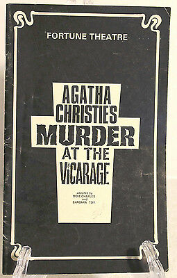 """Fortune Theater Agatha Christie's """"Murder At The Vicarage"""" Oct 1979"""