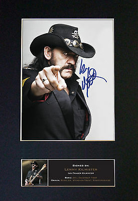 LEMMY KILMISTER Motorhead Signed Mounted Autograph Photo Prints A4 480