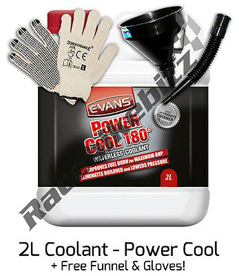 Evans Power Cool 2 Litre Waterless Engine Coolant Antifreeze Car Motor