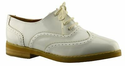 Ladies Womens Girls Shoes Work Office Back To School Lace Up Brogues Size
