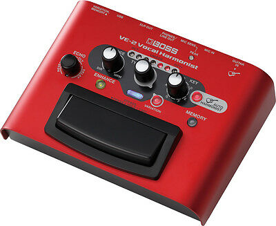 Boss VE-2 Vocal Harmonist Harmony Voice Vocalist Effects Pedal