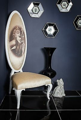Marilyn Monroe High Back White Cream Throne Hallway Velvet Modern Contempory