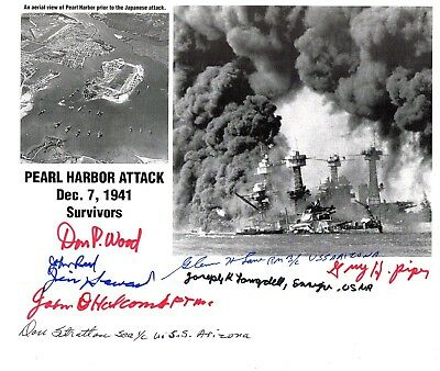 USS Arizona (Pearl Harbor 12/7/41)~ 8x10 -View Collage by 8 (EIGHT) Survivors