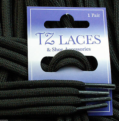 Cord Round Black 5mm Laces Shoes Boots Hiking-Boots New