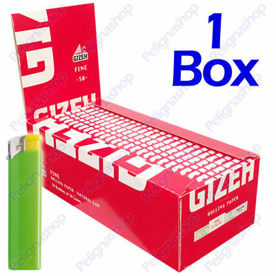 2500 Cartine GIZEH Fine Corte 50 pz - 1 Box