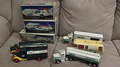HESS TRUCKS - LOT of 8 including TRAINING VAN !!!! some in ORIGINAL BOXES
