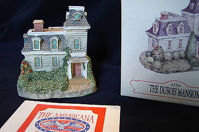 Collectible Miniature Liberty Falls DuBois Mansion AH14 Retired w/ Box