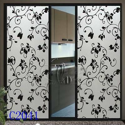 92cm x3m Vintage Privacy Frosted Frosting Removable Glass Window Film c2041