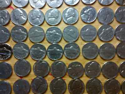 Jefferson Nickels Set 1950 - 2018 in Plastic Coin Tubes; PDS Mints