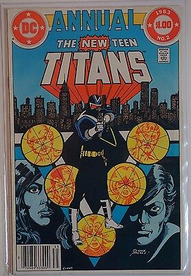 THE NEW TEEN TITANS Annual #2 (1983) DC 1st APPEARANCE Vigilante Adrian Chase