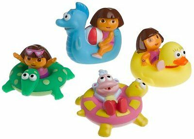 Dora the Explorer 4 Water-Squirting Bath Toys by Munchkin
