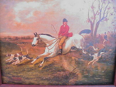 2 Horse And Hound Dog Traditional English Fox Hunt Scenes