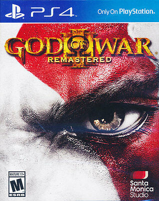God of War 3 III Remastered PS4 Game Brand New Sealed