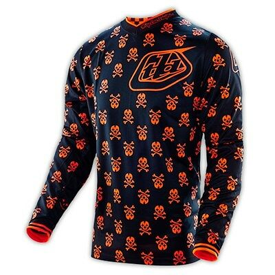 Troy Lee Design TLD 16 GP Anarchy Black Orange MX Jersey No Exchange/Refund