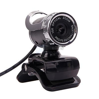 360°USB 2.0 1080P HD WebCam Web Camera Clip-on MIC for Desktop PC Laptops UK