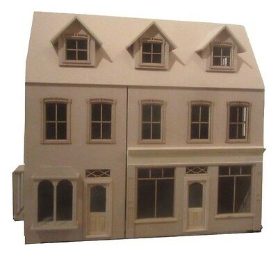 Radcliff Double Shop Victorian Dolls House in Kit 1:12 scale Free UK P&P