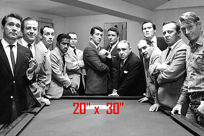 "Ratpack~Martin~Sinatra~Playing Pool~Billiards~Shooting Pool~Poster~Photo~20""x30"""