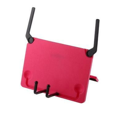 Adjustable Bookstand Reading Holder for Books Music & iPads-Red