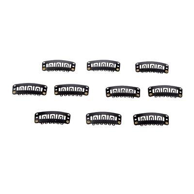 Pack of 10pcs 32mm Wig Hairpiece Clip Snaps for Hair Extension Accessories