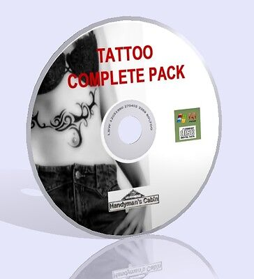 Tattoo Complete Pack CD - Guides And Beautiful Designs!