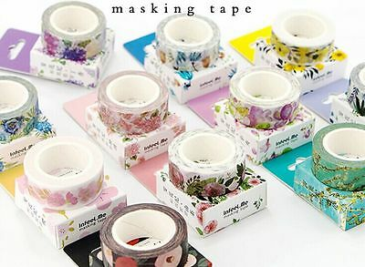 New Design 1.5cm×7M DIY paper Sticky Adhesive Sticker Decorative Washi Tape