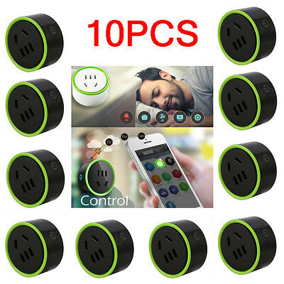 10PCS Smart Socket Outlet for WiFi IR Remote Control Timer Switch Automation F7