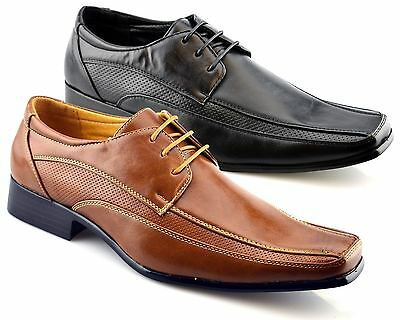 Mens New Smart Wedding Dress Lace Up Work Office Oxford Formal Shoes Size 6-11