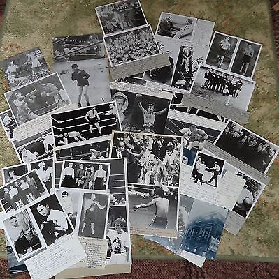 THIRTY-FIVE Plus BOXERS BOXING Reprint Photographs SUNDERLAND & NEWCASTLE Mainly